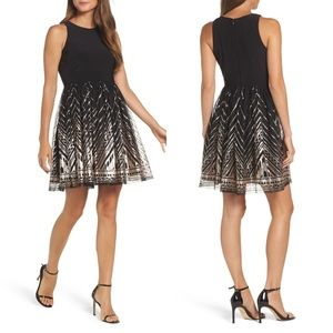 Vince Camuto Sequin Fit&Flare Dress